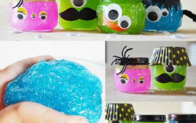 Make Glitter Slime Monsters